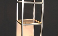 A Lighted Display Cabinet Created from Our Extruded Aluminum System